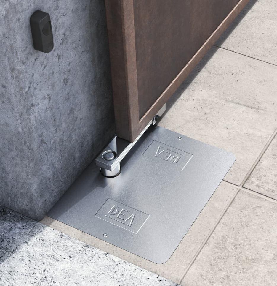 Cổng-tự-động-âm-sàn-GHOST-200- ảnh thực tế