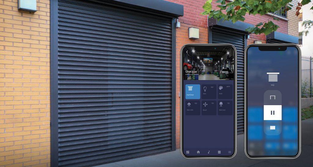 App Lumi life điều chỉnh trạng thái cửa cuốn